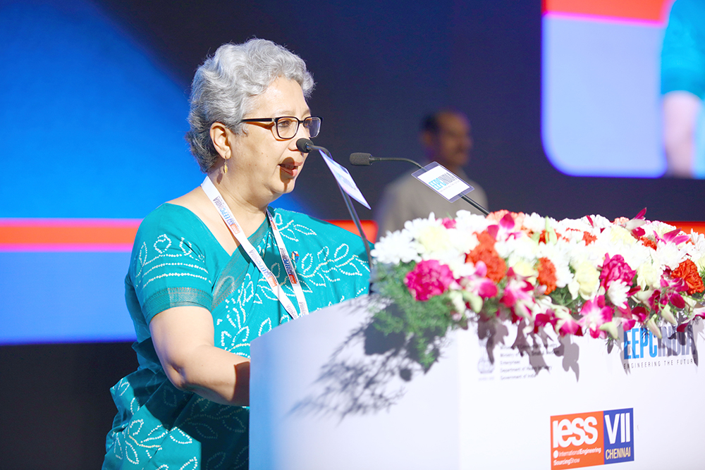 Ms Rita Teaotia, Commerce Secretary, Union Ministry of Commerce and Industry, Govt. of India addressing at the Inauguration