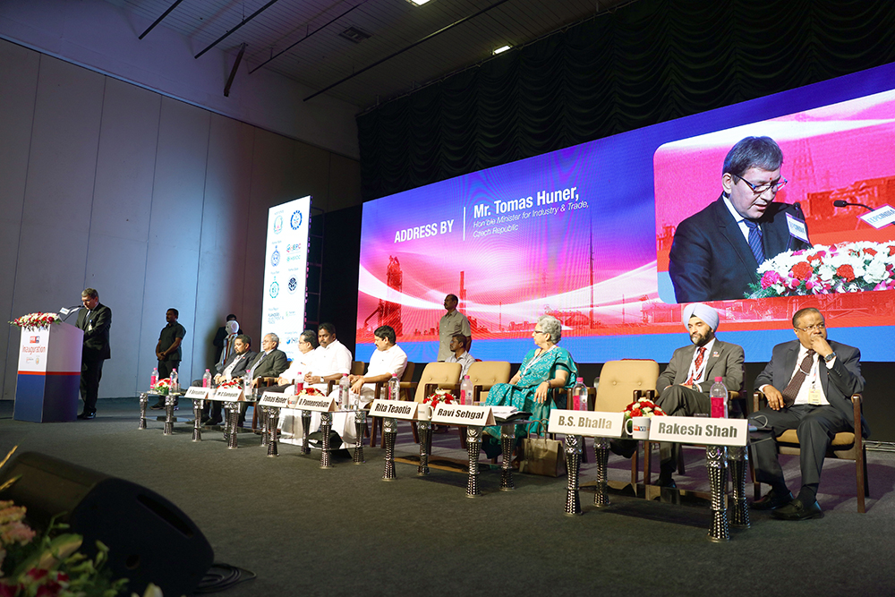 Mr. Tomas Huner, Minister for Industry & Trade, The Czech Republicaddressing the audience